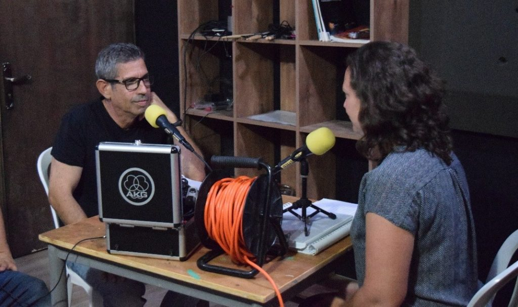 Asaf Shalev, Director of the Yerucham Science Center, with DataPoint host, Maya Dolgin