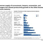 An excess supply of accountants, lawyers, economists, and managers has slowed productivity growth in the Other Business Services industry in Israel